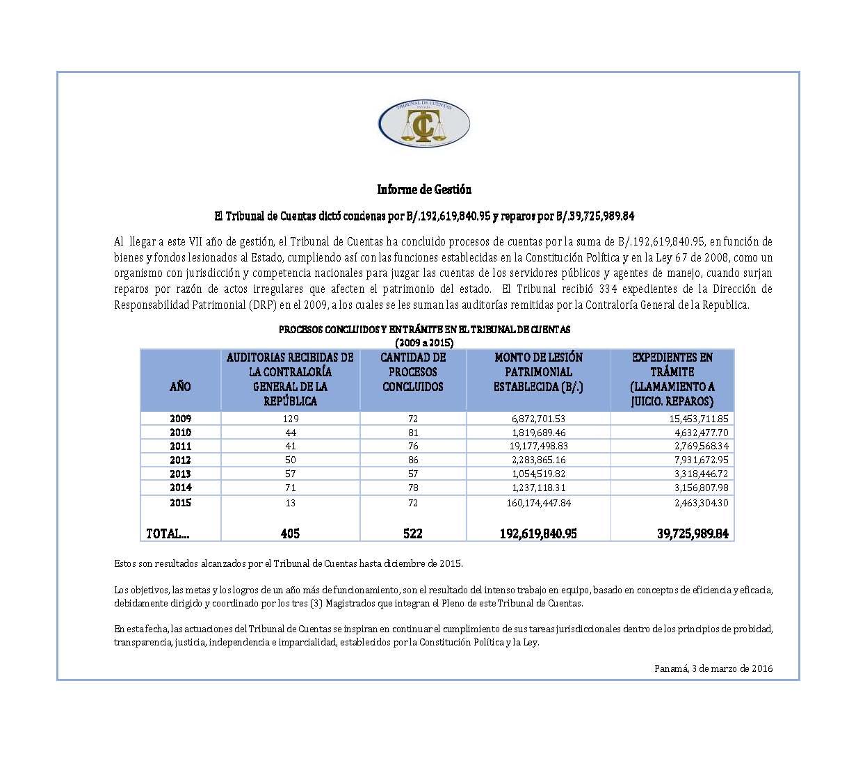 Informe de Gestión Pagina Web 2015-2016